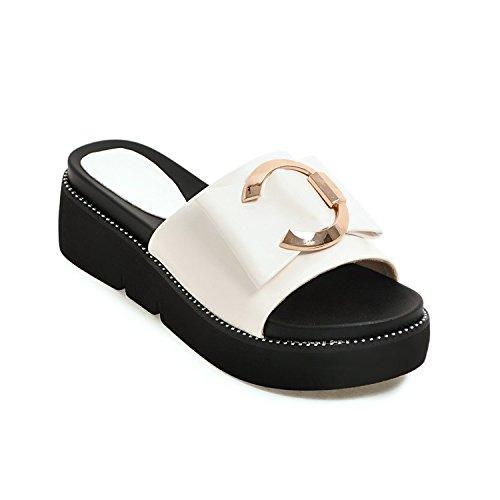 Women Slippers vovmi 5cm Black 3 Mujer Shoes Heel Wedges Woman White RtRqa