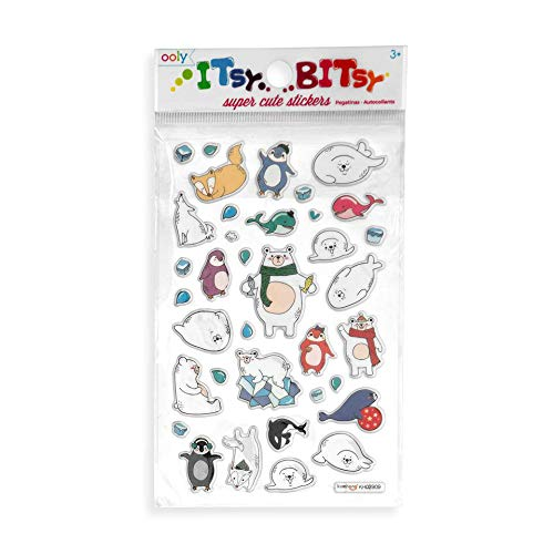 Ooly Itsy Bitsy Stickers - Arctic - Antics Sheet Animal