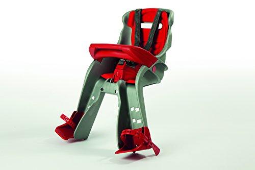 OKBABY Orion - Seggiolino Anteriore per Bambini, Sicurezza in Bicicletta dai 7/8 Mesi (15 kg) - Argento e Rosso 7 spesavip