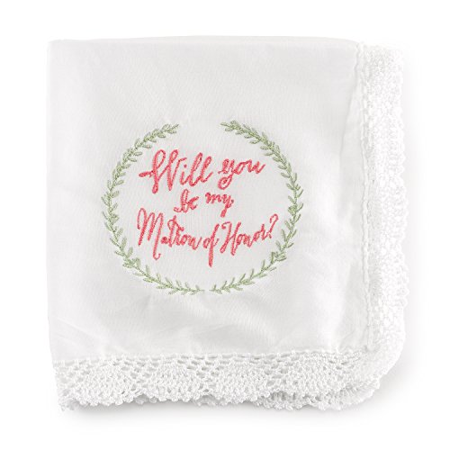 Hortense B. Hewitt Will You be My Matron of Honor (Lace Edged Handkerchief)