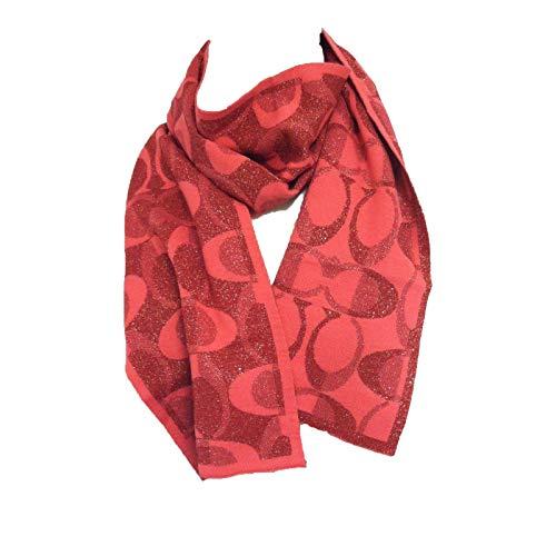 Coach Signature C Women's F83834 Tonal Dream Knit Wool Scarf ()