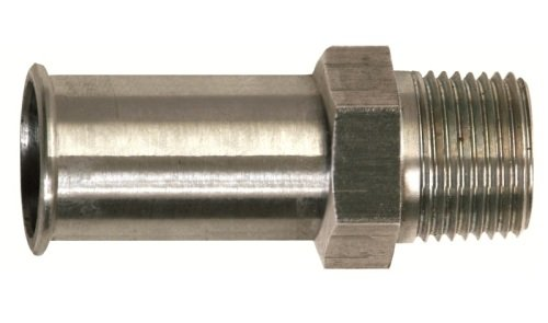 Professional Products 54180 3//8 NPT Stainless Steel Straight Fuel Inlet Fitting for Ford