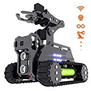 Adeept RaspTank WiFi Wireless Smart Robot Car Kit for Raspberry Pi 3 Model B+/B/2B, Tank Tracked Robot with 4-DOF Robotic Arm, OpenCV Target Tracking, Video Transmission, Raspberry Pi Robot with PDF