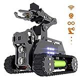 Adeept RaspTank WiFi Wireless Smart Robot Car Kit for Raspberry Pi 3 Model B+/B/2B, Tank Tracked Robot with 4-DOF Robotic Arm, OpenCV Target Tracking, Video Transmission, Raspberry Pi Robot with PDF