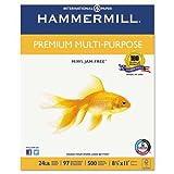 Premium Multipurpose Paper, 24-lb., 8-1/2 x 11, White, 2500/Carton, Sold as 1 Carton