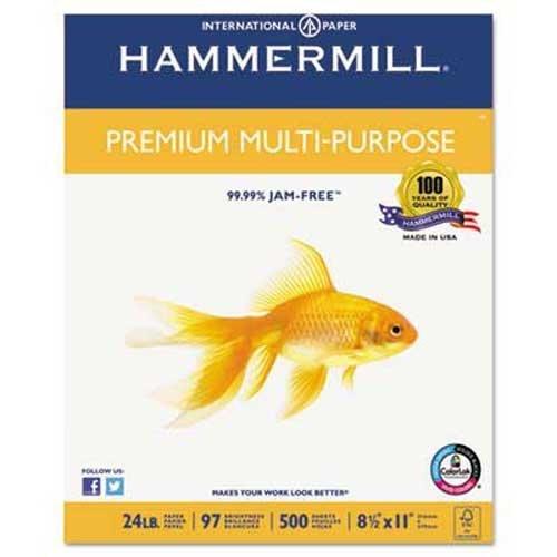 Hammermill Premium Multipurpose Paper, 24-lb, 8-1/2 x 11, White, 2500/Carton by Hammermill