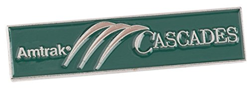 (Amtrak Collector Edition Pacific Cascades Die Struck Enamel Lapel Hat Pin New)