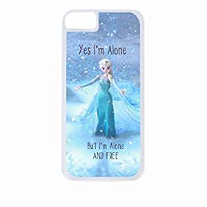 """Yes, I'm Alone. But I'm Alone and Free.""-Hard White Plastic Snap - On Case with Soft Black Lining-Apple Iphone 5c Only - Great Quality!"