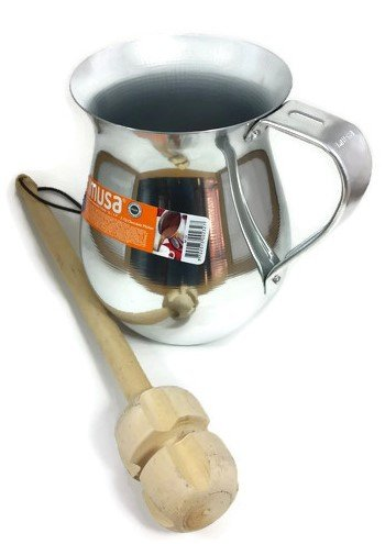 Imusa Aluminum Chocolatera (Hot Chocolate Pitcher). Bundled with a Wooden Chocolate Mixer – Molinillo 14″ (1.4 Quart) Review