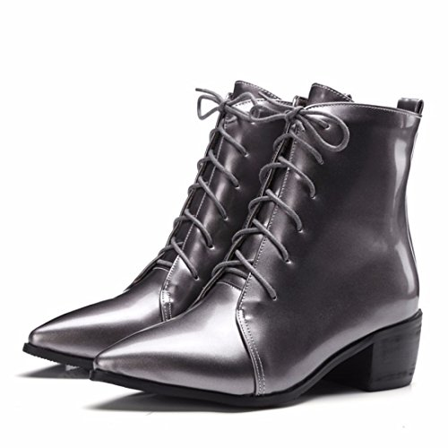 RFF-Women's Shoes Pointed Shoes, Big Boots, Autumn Boots, and Martin Boots Gun color