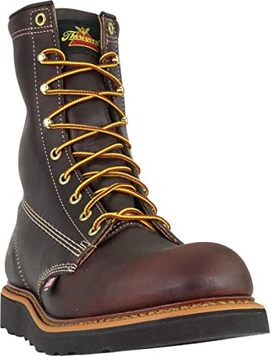 Work Shoes Made Usa - Thorogood American Heritage Plain Toe Work Boot, Black Walnut, 10.5 EE US
