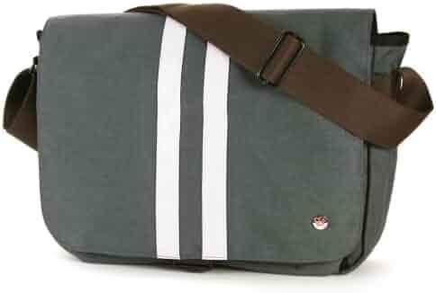 Japanese Leaves Ombre Messenger Bag Cross Body Laptop School Work Bag