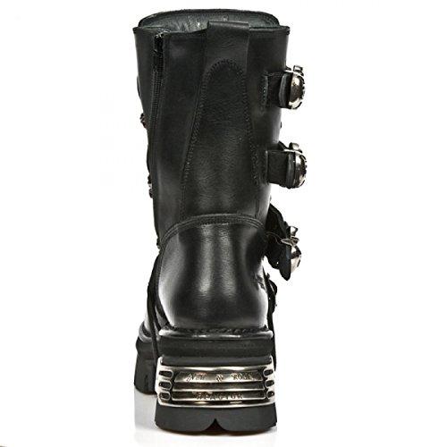 New Rock Støvler M.375-s1 Gotisk Hardrock Punk Unisex Stiefel Sort WxFPN2b40