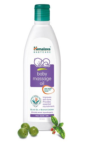 Himalaya Herbal Baby Massage Oil Daily Massage Helps in Improving Baby's Growth and Development 100ml by Himalaya
