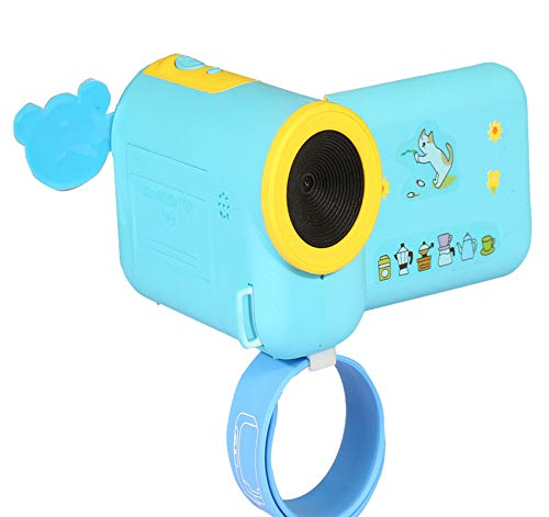 MeterMall Mini Puzzle Cartoon Cameras HD Children's Toy Digital Camera Sky Blue by MeterMall (Image #1)