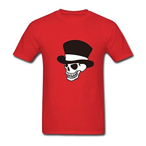 TSHIRT COLOR Men's Mr. Bones Skull Gentleman Hat Headband Bone Collector N (Club Red Bone Collector)