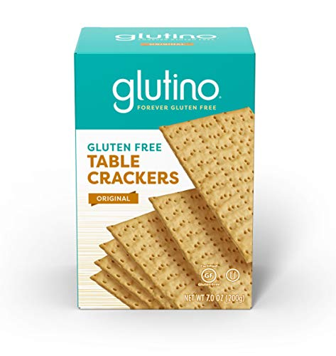 Gluten Free by Glutino Table Crackers, Premium Squares, Original, 7 Ounce