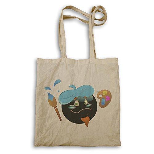 Smiley-Künstler-Malerpinsel-Gesichts-Neuheit-lustige Vintag Tragetasche a297r