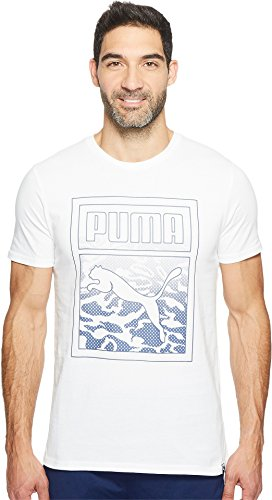 PUMA  Men's Archive Graphic Logo Tee Puma White T-Shirt