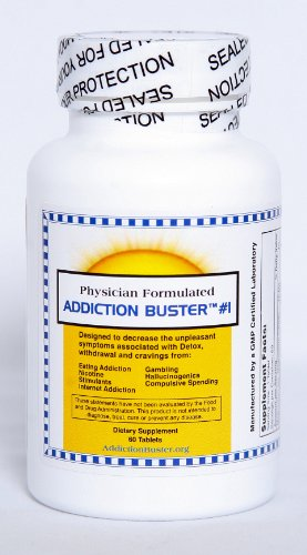 Addiction Buster #1 - Natural Herbal Formula Addresses the Problems in the Brain Responsible for Cravings, Withdrawal, and Addiction to Substances such as Nicotine, Food, Overeating, Caffeine and Other Stimulants