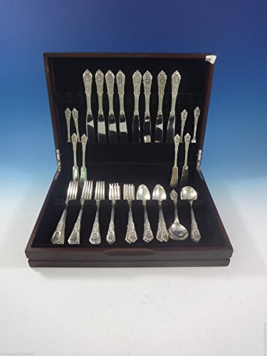 Rose Point by Wallace Sterling Silver Flatware Set For 8 Service 48 Pieces