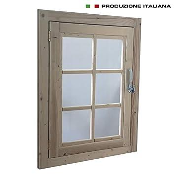 Home Idea Italia Finestra In Legno Per Casetta 61 X 81 Cm