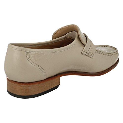 Mens Grenson Moccasin Shoes Clapham - Ivory - UK Size 13G - EU Size 48 0Uww6