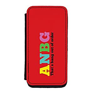ANBG That's Bang Out Of Order Premium Faux PU Leather Case, Protective Hard Cover Flip Case for iPhone 5C by Chargrilled