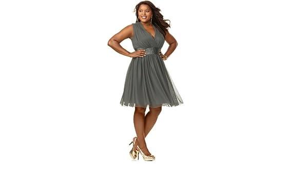 Trixxi Women\'s Prom Dress Solid Black Sleeveless Open Back ...