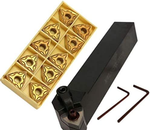 Set von 20 mm Drehmaschine Drehwerkzeughalter 2020K08 + 10 WNMG0804 Carbide + 1 Wrench DIY Schneidwerkzeug