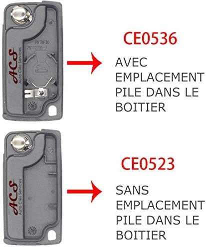 Boitier coque de cl/é plip P-eugeot 407 3 boutons CE0523