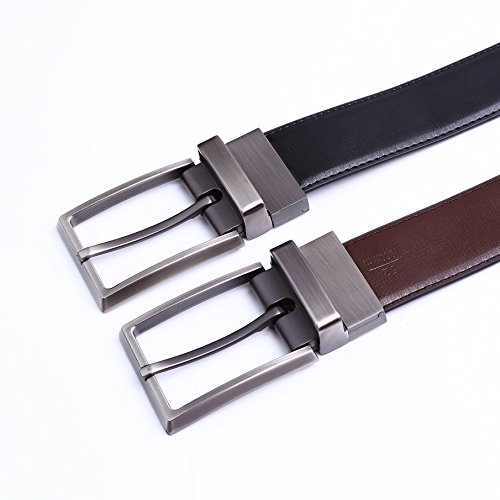 Beltox Fine Men Dress Belt Leather Reversible 125 Wide Rotated Buckle Gift Box