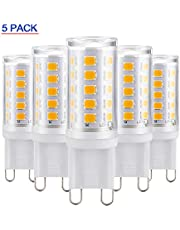 Koopower G9 32 LED Lampe, 5er Pack, 3W 376LM, Ersatz 3W-40W Halogenlampe, Flackern und 3500K warmweiße G9 LED Lampen, CRI> 80, Nicht Dimmbar, 200-240V