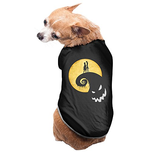 Nightmare Before Christmas Costumes For Dogs (Nightmare Before Christmas Jack Sally Pet Cotton T-shirt Black)