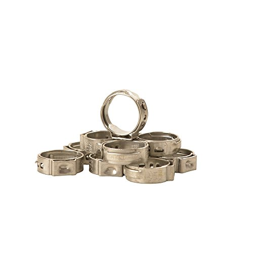 IWISS 10 PCS 1/2-inch PEX Stainless Steel Clamp Cinch Rings (Stainless Steel Cinch Clamp)