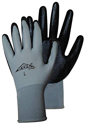 Magid Glove and Safety Hand Master Economy Nitrile Coated Palm Glove (Pack of 18), Large