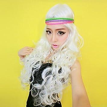 Gitana blanca pelo largo y rizado 65 cm de las mujeres ...