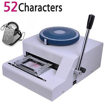 DONNGYZ Manual Embossing Machine,Metal Embosser Alphanumeric Plate ...
