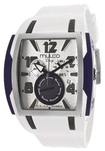 Mulco Deep White Dial Chronograph Silicone Unisex Watch MW113186014