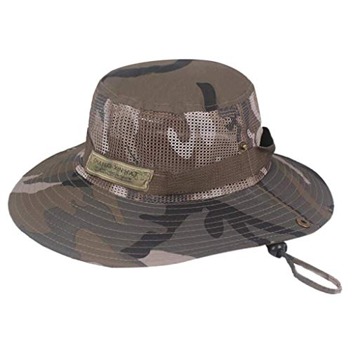 Pengy Summer Camouflage Hat Fisherman Hat Outdoor Mountaineering Hat Unisex Visor Army Cap
