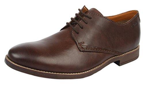 Clarks Novato Plain - Zapatos de cordones Brown Leather