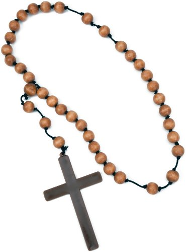 Monk Cross with Wooden Rosary Beads