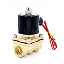 Baomain 3/4 inch DC 12V Brass Electric Solenoid Valve Water Air Fuels N/C Valve