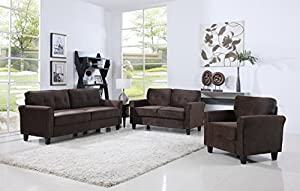 inexpensive furniture sets living room. classic living room furniture set - sofa, love seat, accent chair (brown) inexpensive sets