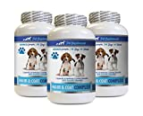 PET SUPPLEMENTS Dog Skin Itch Relief Supplement - Dogs Hair and Coat Complex - Advanced Skin Relief - Good for Nails - Dog Vitamin c - 3 Bottles (180 Tablets)