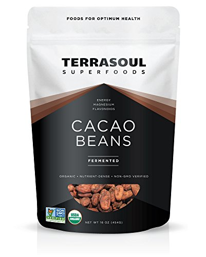 - Terrasoul Superfoods Raw Organic Criollo Cacao Beans, 1 Pound