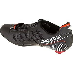 Diadora Vortex Racer II Shoes - Men's Black/White/Red Fluo, 43.5