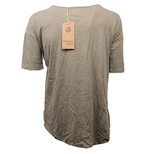 shirt Woman Maglia C3208 Happiness Donna Verde T Basic qwxEwpOfH