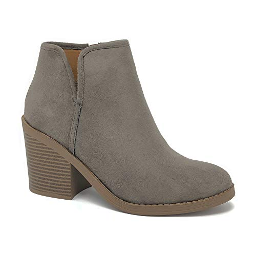 SODA Target Womens Chunky High Heel Ankle Bootie