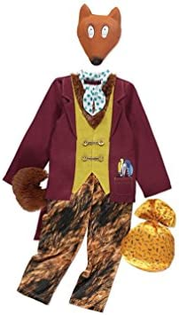 Officially Licensed Fantastic Mr Fox Fancy Dress Roald Dahl Book Week  Costume With Mask And Bag Of Chickens, Made For The George Collection (5 6  Years)